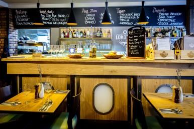 Interiér bar - restaurace České Budějovice